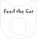 rendering of CAD file of the front layer of the Feed the Cat puzzle